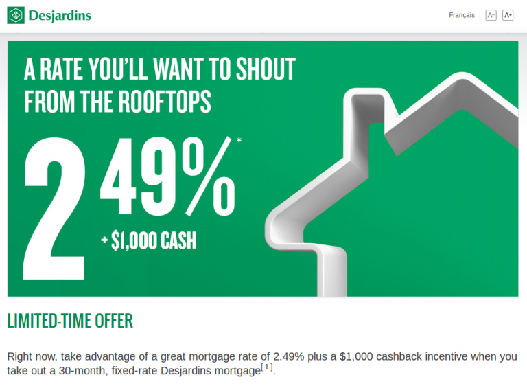 desjardins fixed rate deal july 31 2017