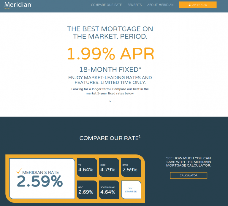 meridian 18 month fixed rate