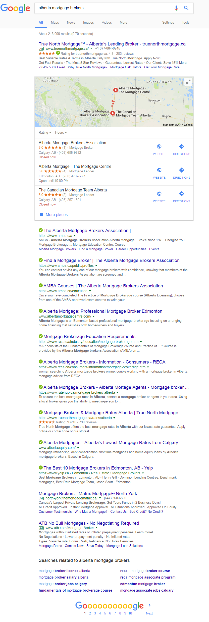 Alberta Mortgage Brokers - Results from Google