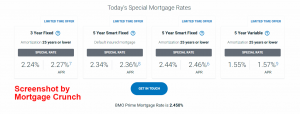 BMO Special Mortgage Rates 2021-05-25