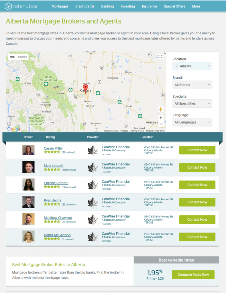 Ratehub Alberta mortgage agents
